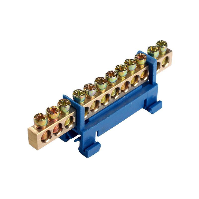 Шина нулевая 12 отверстий на DIN рейку EH-BN-12