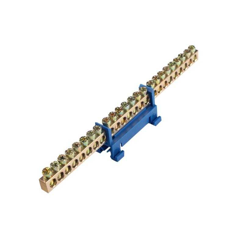 Шина нулевая 24 отверстия на DIN рейку EH-BN-24
