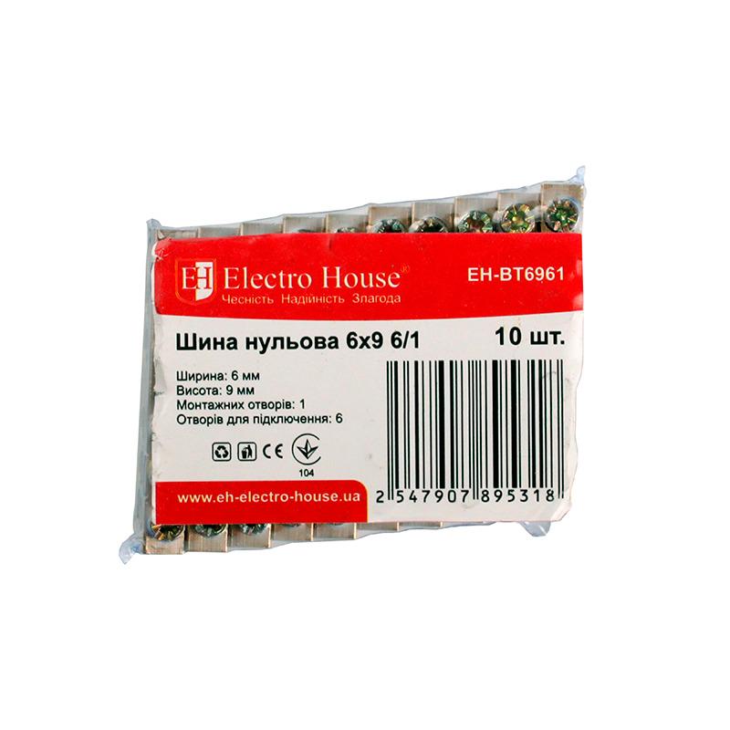 Шина нулевая 6х9 6/1 EH-BT6961