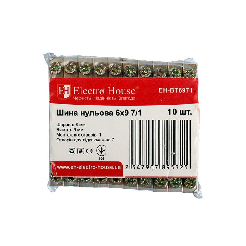 Шина нулевая 6х9 7/1 EH-BT6971