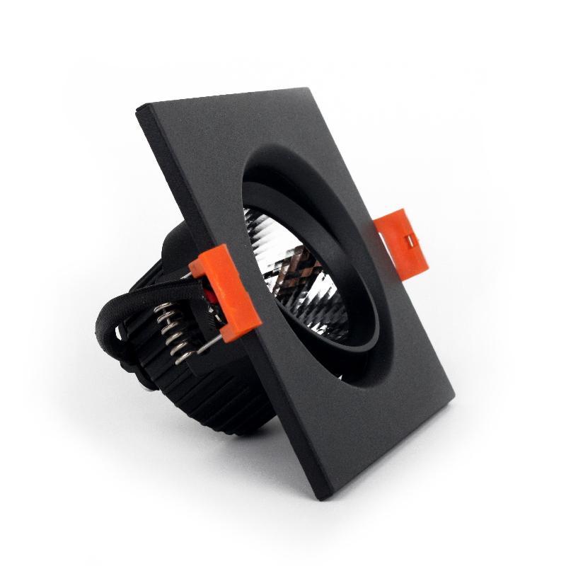 LED светильник потолочный чёрный 5W угол поворота 45°