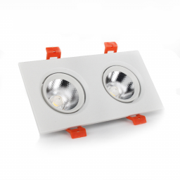 LED світильники білий подвійний 5W кут повороту 45 ° 4100K
