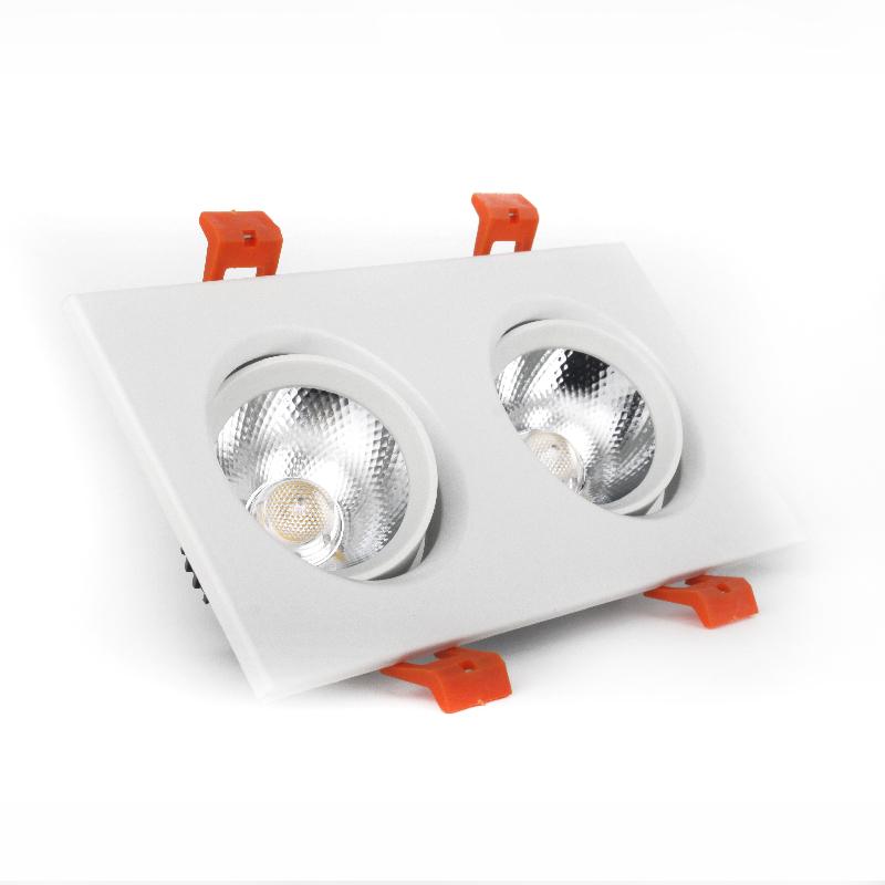 LED светильник потолочный белый двойной 5W угол поворота 45°