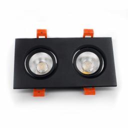 LED Світильник стельовий чорний подвійний 5W кут повороту 45° 4100К