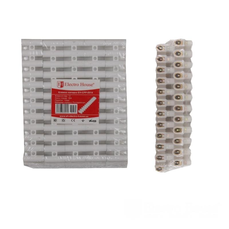 Клеммная колодка 16A 12mm² Полипропилен EH-CPP-0014