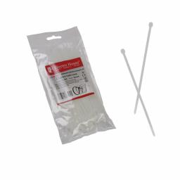 Стяжка кабельная белая 3x100