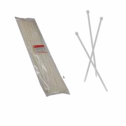 Стяжка кабельная белая 8x750