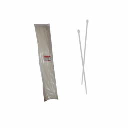 Стяжка кабельная белая 9x1220