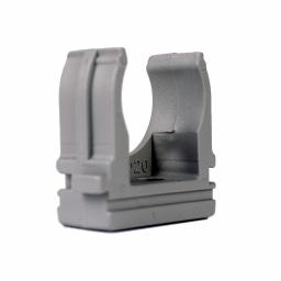 Кріплення для гофротрубы Ø 20 мм, Ø отв. 6 мм, колір сірий 100 шт.