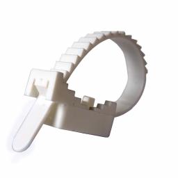 Крепеж ремешковый EH-L150D40 Ø 40мм Ø отв. 4 мм белый 50 шт.