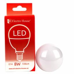 "LED лампа ""шар"" E14/4100K/8W 720Lm /180° P45"