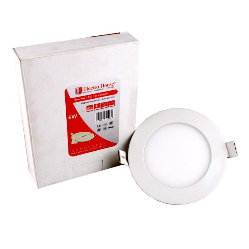 LED панель круглая 6W Ø 120мм EH-LMP-1271