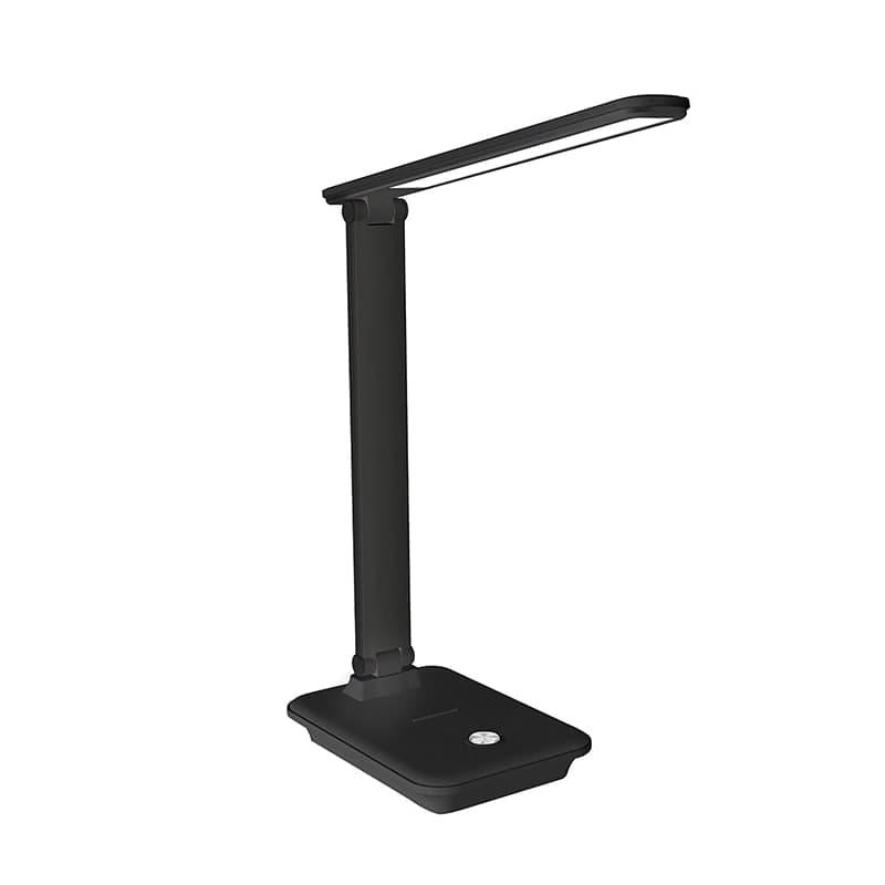 Лампа настольная черная 10W с беспроводной зарядкой