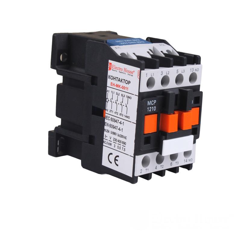 Контактор магнитный 12A 3P 220V EH-MGK-0011