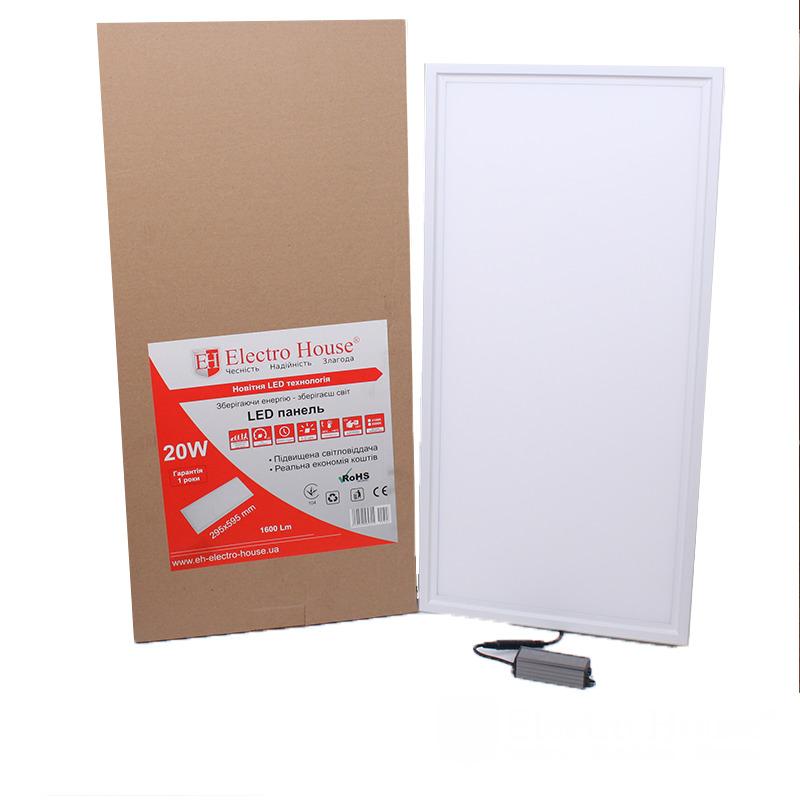 LED панель прямоугольная 20W 295х595мм EH-PB-0012