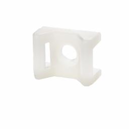 Площадка под винт для стяжки [хомутов] 6,8 мм 16х22 мм белая нейлон