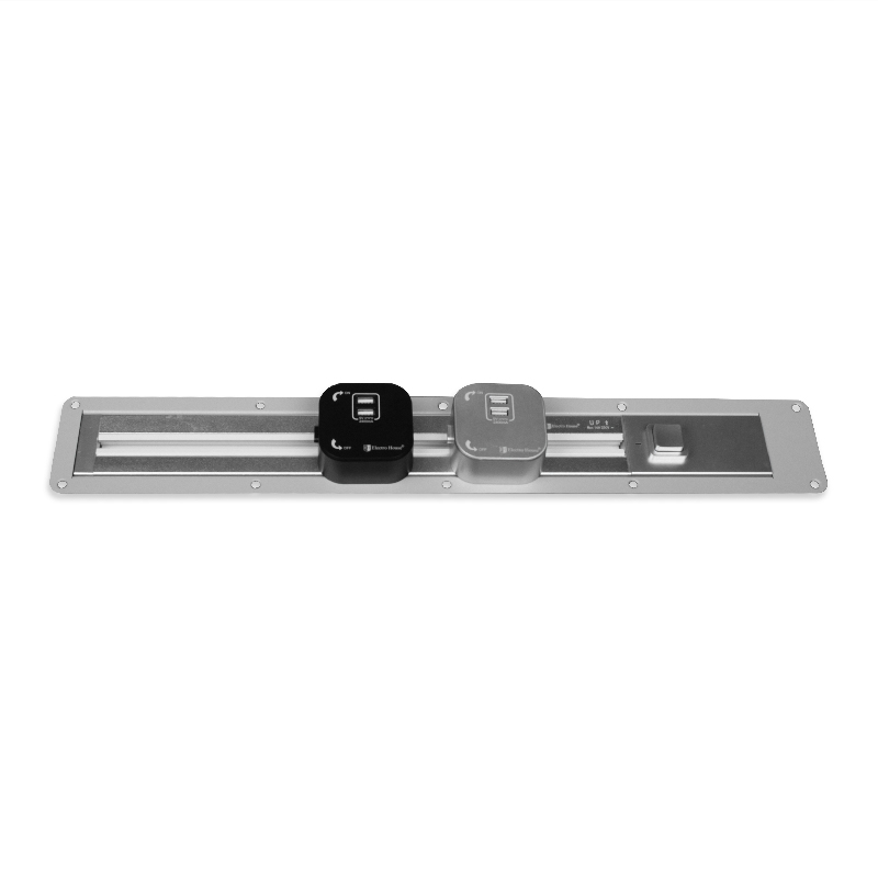 Рамка врезная для трековой рейки 1 м серебро