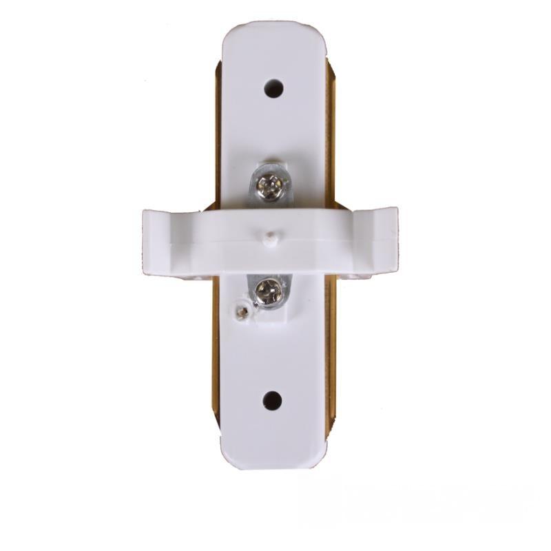 Коннектор для трекового LED светильника  прямой белый EH-TC-0001