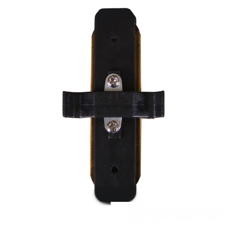 Коннектор для трекового LED светильника  прямой черный EH-TC-0003