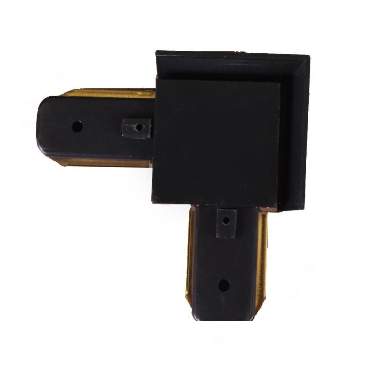 Коннектор для трекового LED светильника  угловой  черный EH-TC-0004