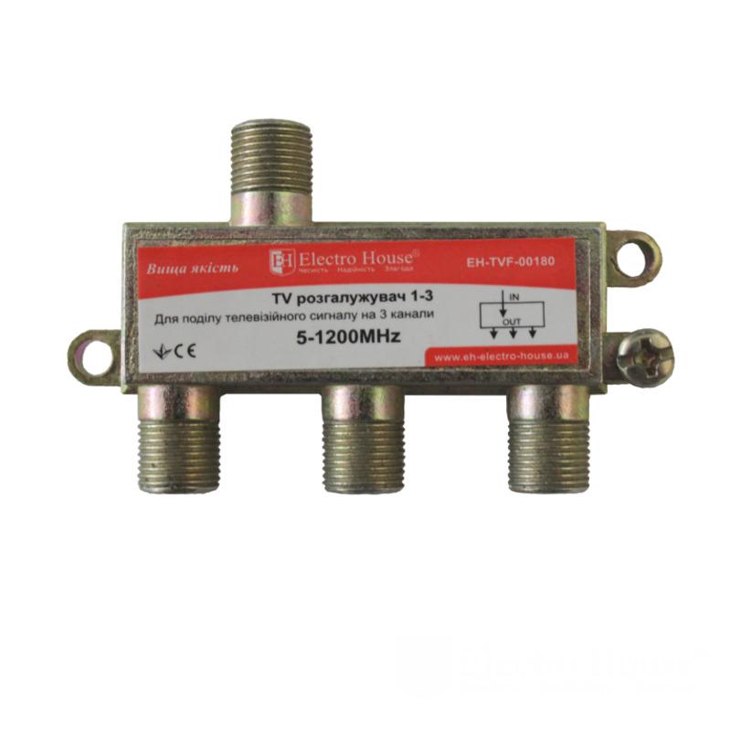 ТВ разветвитель 1-3 EH-TVF-00180 EH-TVF-00180