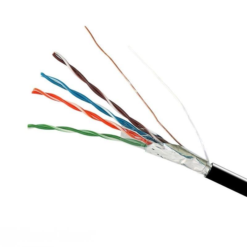 Кабель FTP  4х2х0,51 Cu (наружный монтаж, со стальной проволокой) EH.LAN-32